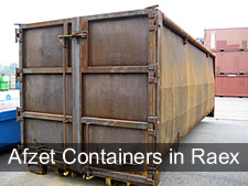 afzetcontainers met raex staal